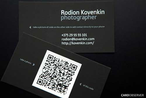 20 business cards with qr codes tarjetas pinterest qr codes do you wish you have more space in your business card here is how to design a high tech qr code business cards plus 20 examples for inspiration reheart Images