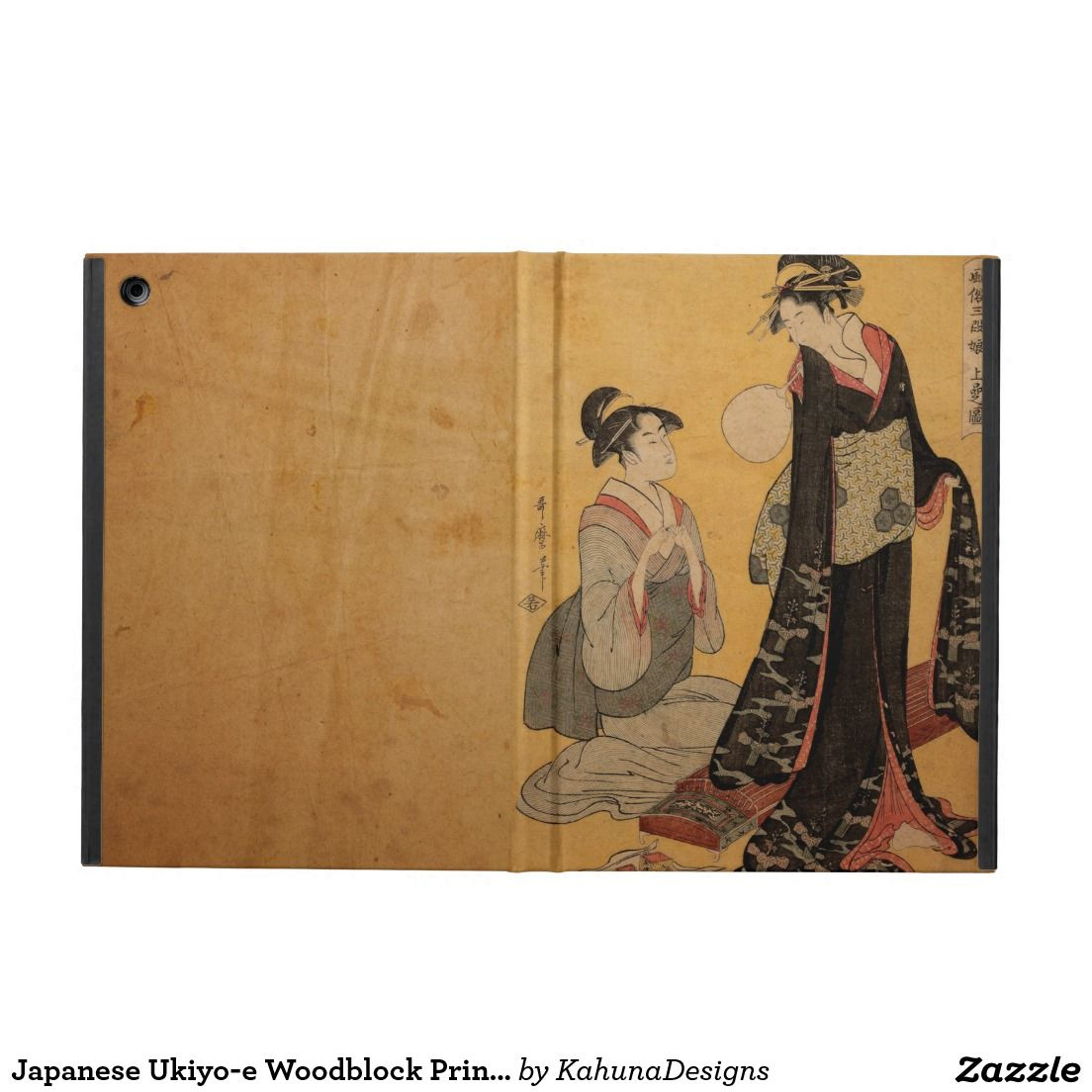 Japanese Ukiyo-e Woodblock Print Series One Cover For iPad Air
