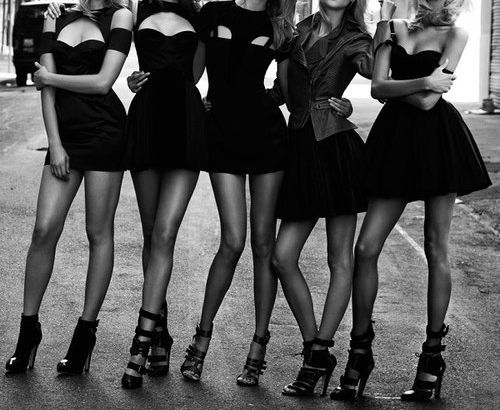 can we?! this is adorable! Little Black Dress bachelorette party!