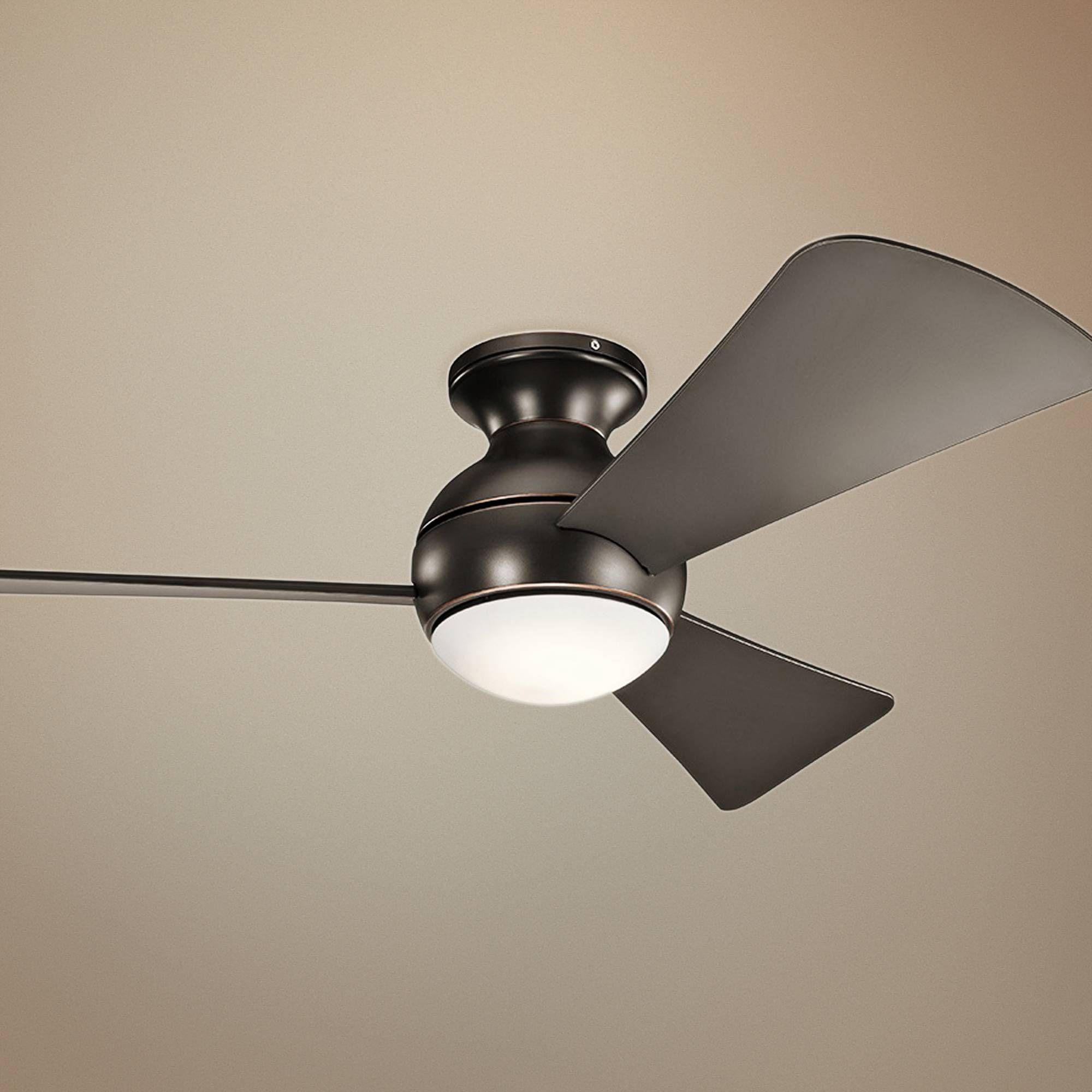 """44"""" Sola Olde Bronze Wet LED Hugger Ceiling Fan"""