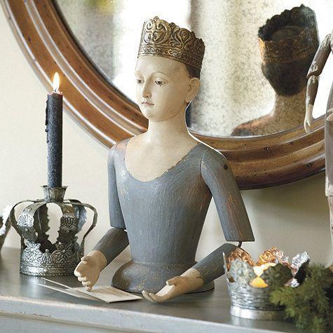 Crowned Santos Bust