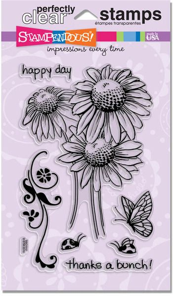 daisy thanks rubber stamp