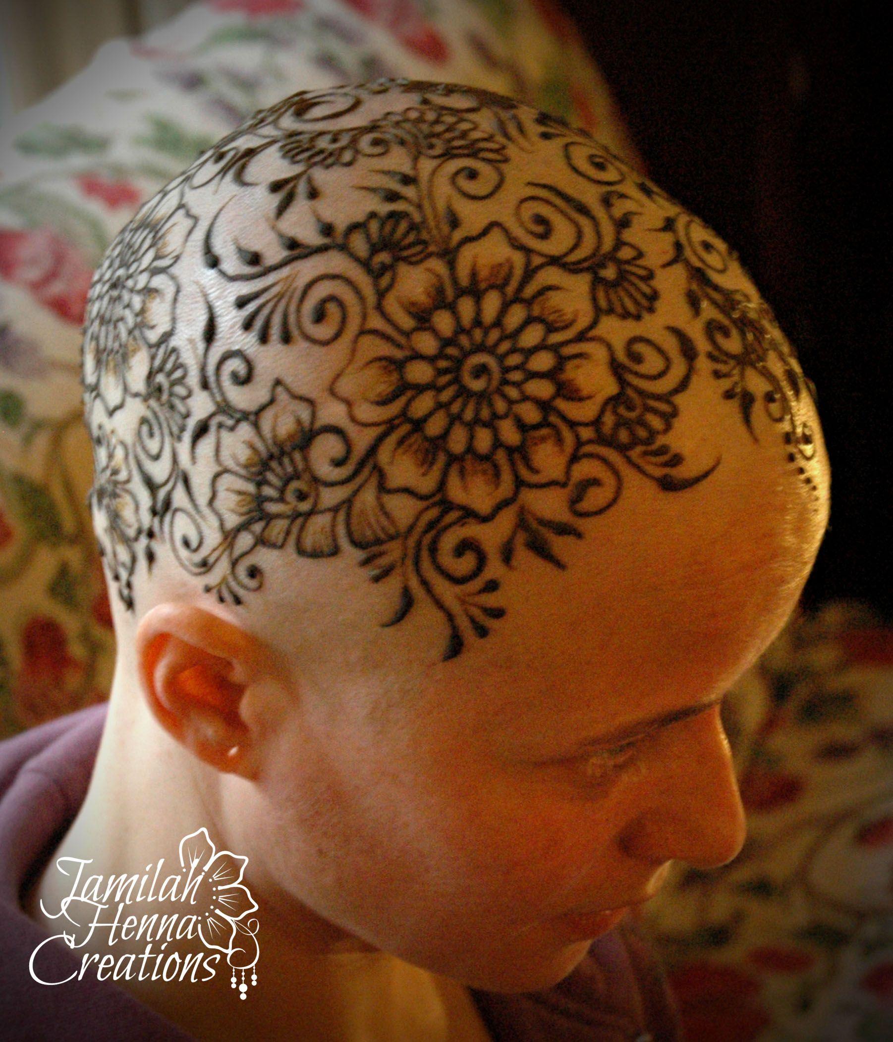 Henna Crown Www Jamilahhennacreations Com Scalp Tattoo Henna Tattoo Shaved Head Designs