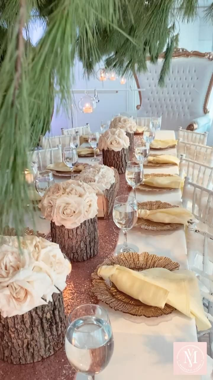 Photo of Rustic Glam Table Decor