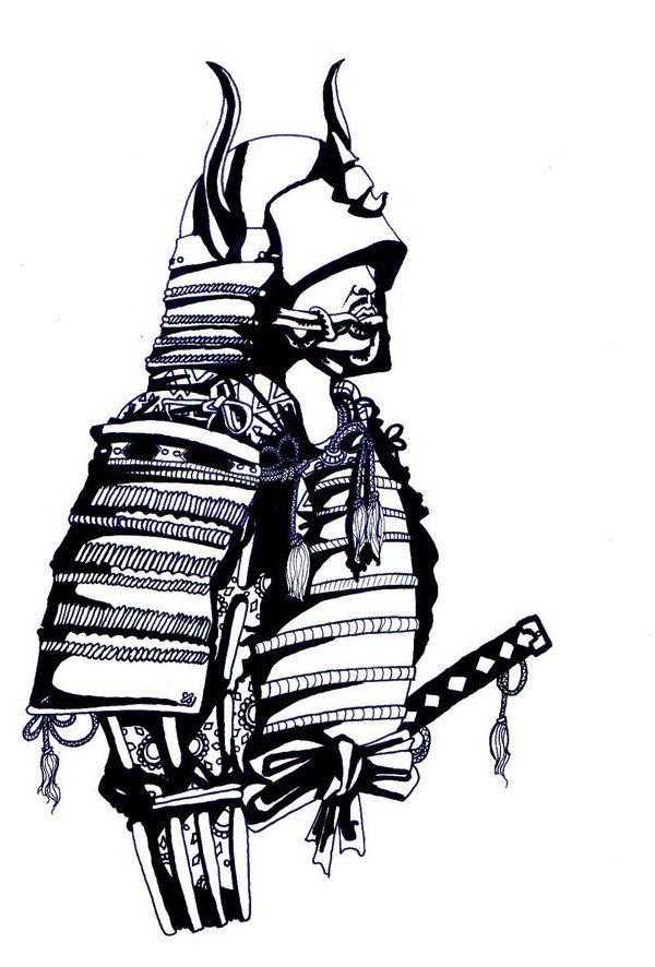 самурай арты карандашом обоих случая артисты