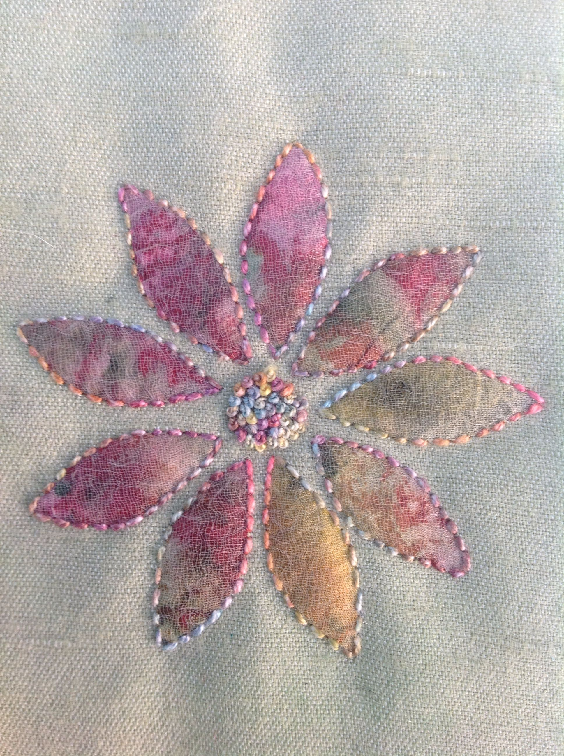 Sample Of Hand Stitched Shadow Applique Using My Favourite
