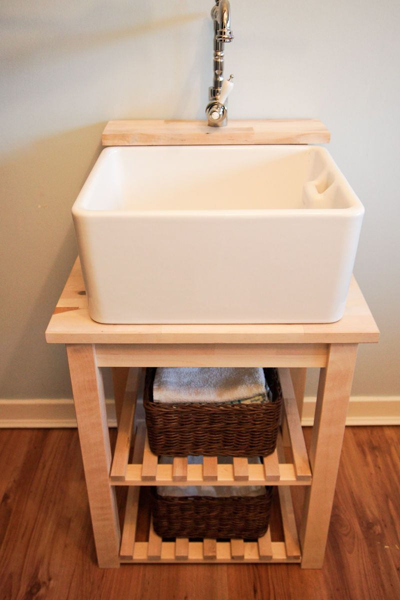Best Belfast Sink Base Unit Stand With Tap Ledge Solid 400 x 300