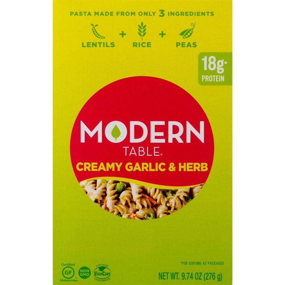 Modern Table Creamy Garlic Herb Lentil Pasta Meal Kit 9 74oz Lentil Pasta Creamy Garlic Pasta Recipes
