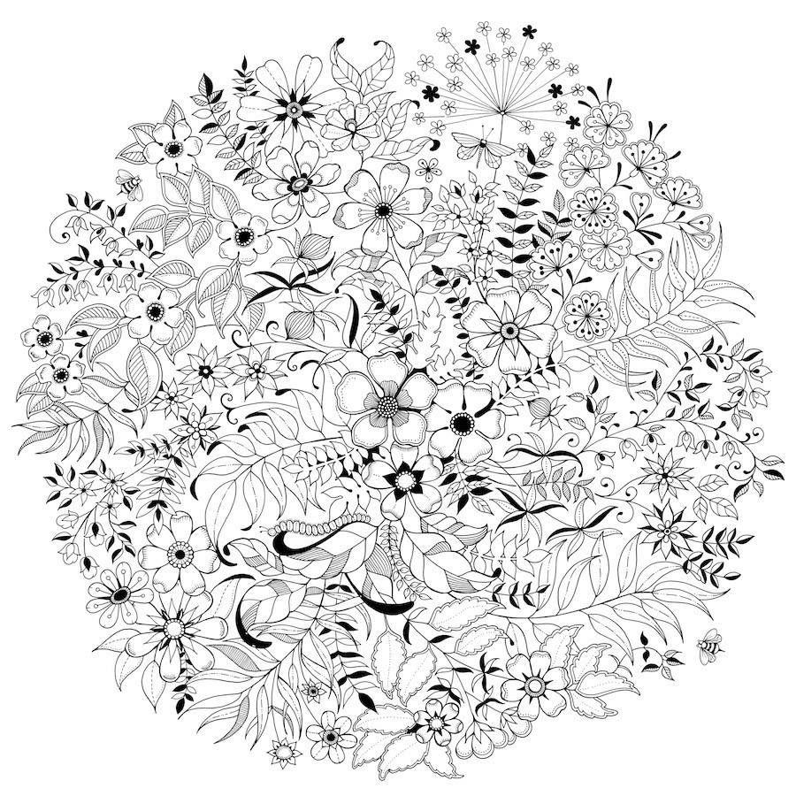 Zendoodle coloring enchanting gardens - Secret Garden An Inky Treasure Hunt Colouring Book By Johanna Basford