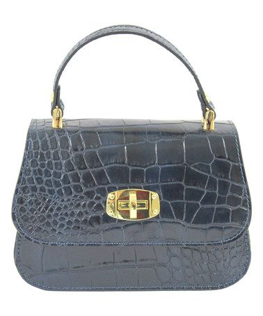 Love this Gray Croc-Embossed Leather Shoulder Bag on  zulily!  zulilyfinds 7a0c95accf79c