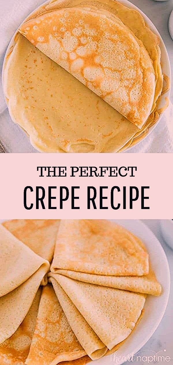 Photo of EASY crepe recipe (made in a blender) – I Heart Naptime