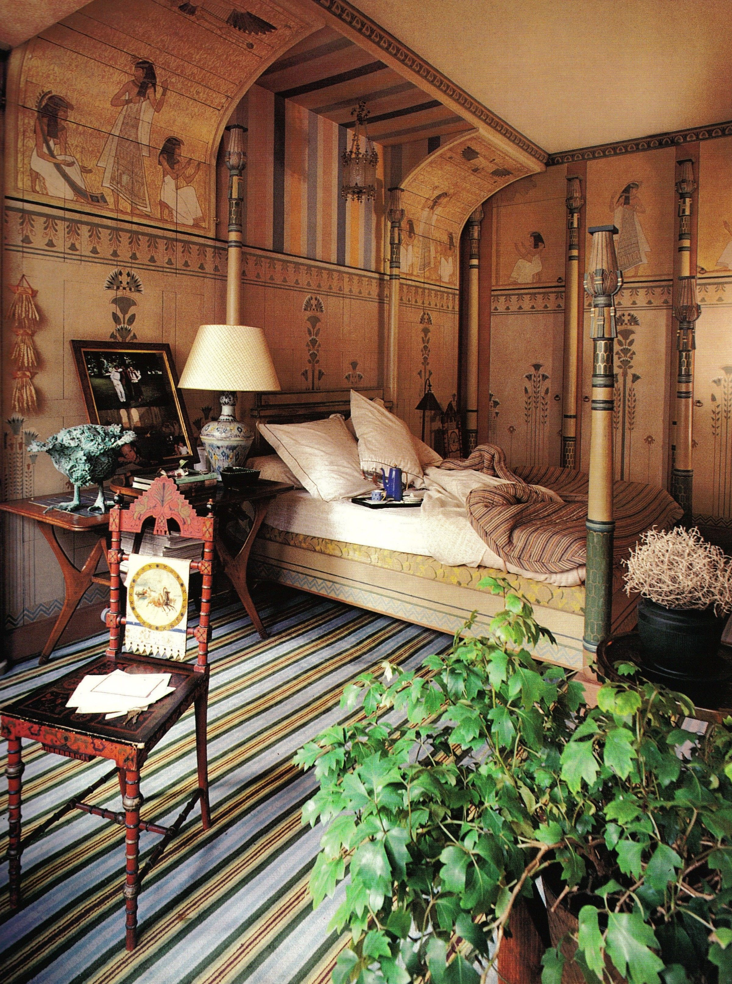Meubles Grange France Francois Lafon Paris Apartment Egyptian Bedroom Jacques Grange