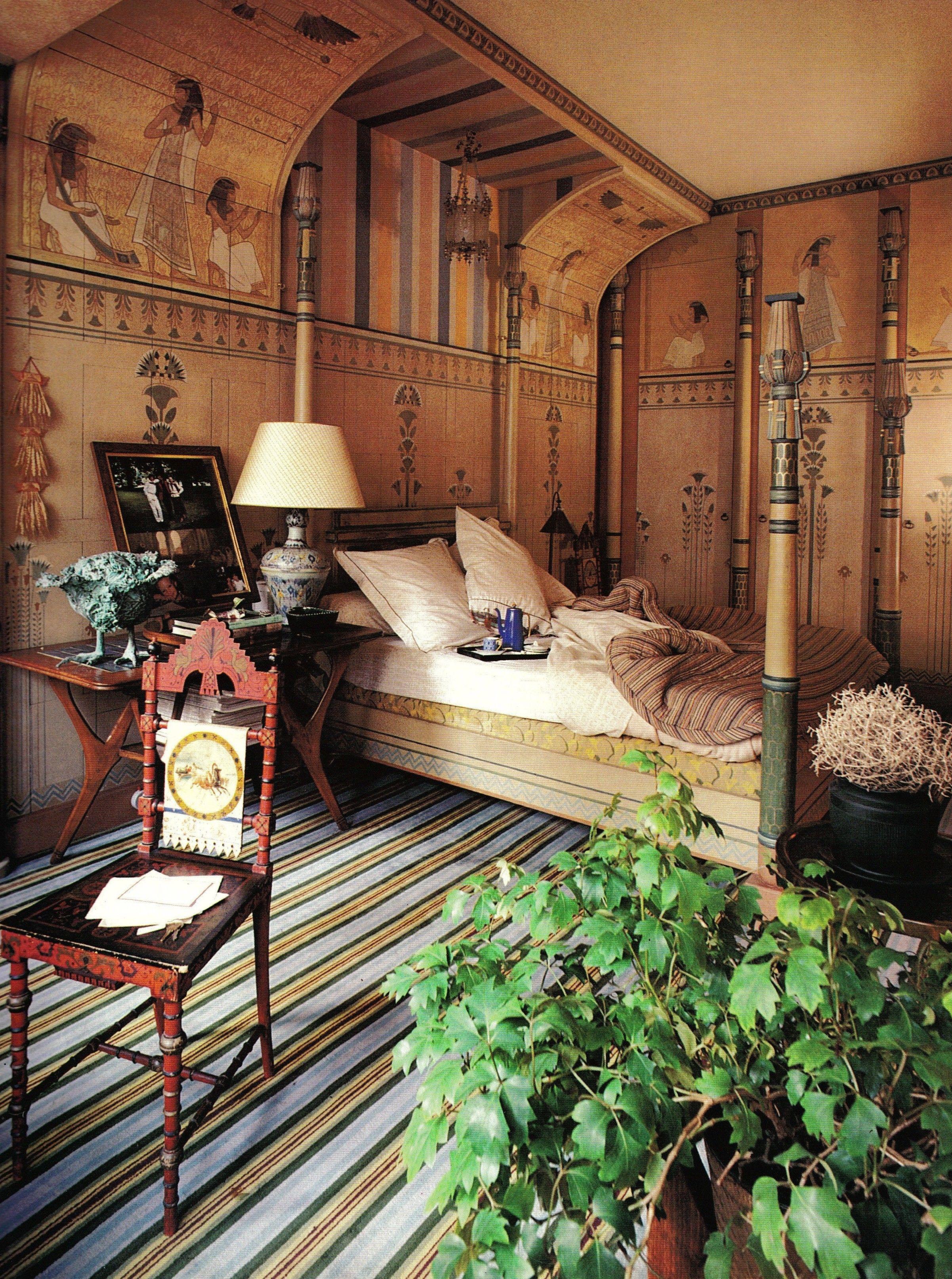 Egyptian Decor Bedroom: Francois Lafon Paris Apartment, Egyptian Bedroom Jacques