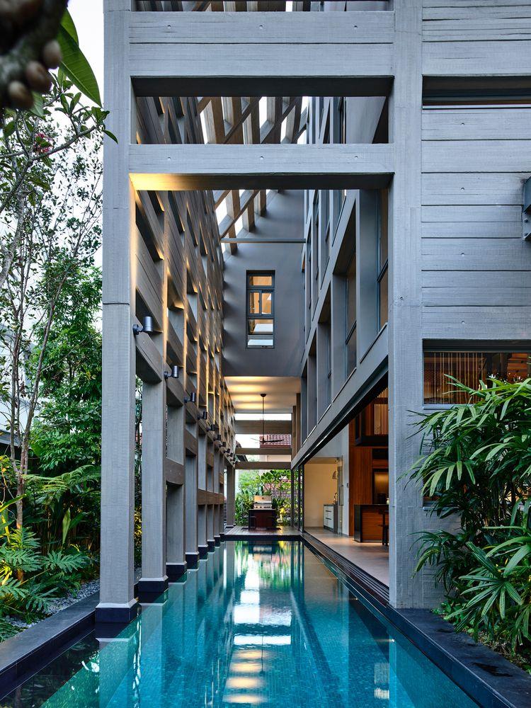 Gallery Of Concrete Light House Hyla Architects 16 Modern Concrete House Concrete Light Concrete House