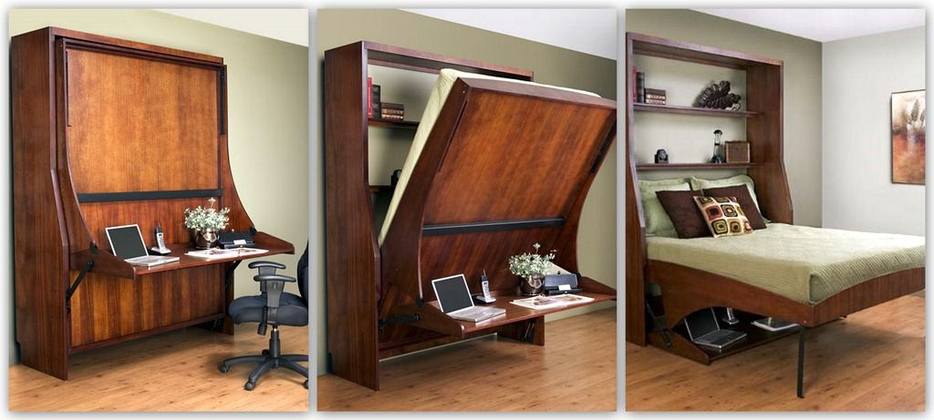 Love this Murphy bed idea! I have a teeny tiny room that also needs to