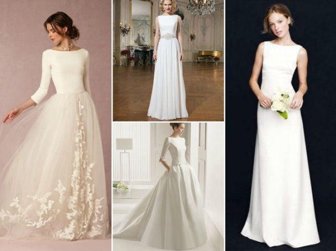 Wedding Hairstyle For Wedding Dresses Of 7 Necklines Boat Neck Wedding Dress Wedding Dress Backs Boat Neck Dress