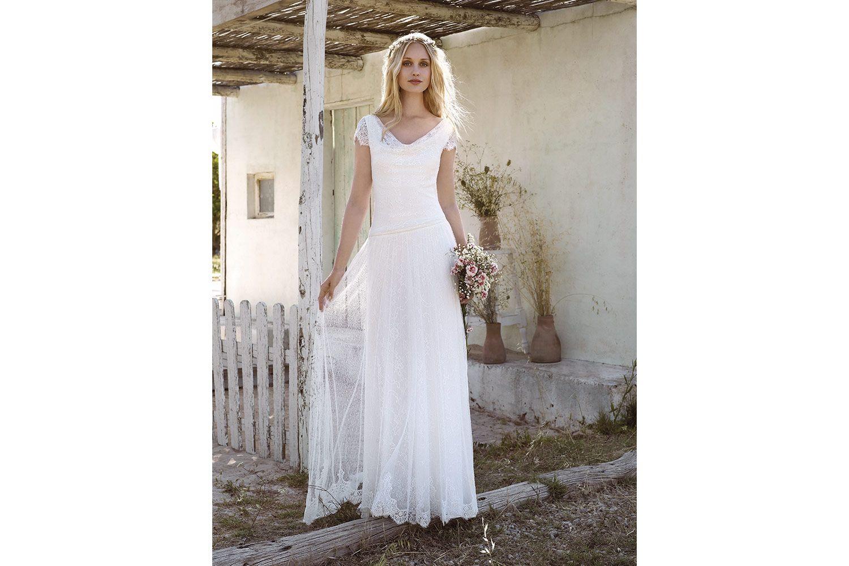 Rembo styling — Vintage — Sarah: Soepele jurk in stretch kant met ...