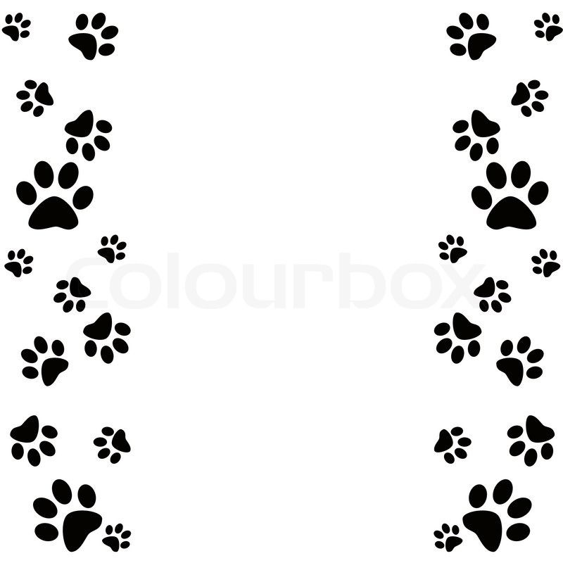 dog paw print border clip art clipart kid pat patrouille rh pinterest com tiger paw print border clip art Paw Print Outline Clip Art