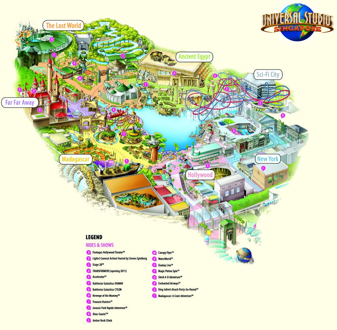 Universal Studios Singapore Map Universal Studios Singapore The Lost World