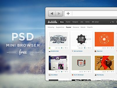 40 Useful PSDs From Dribbble