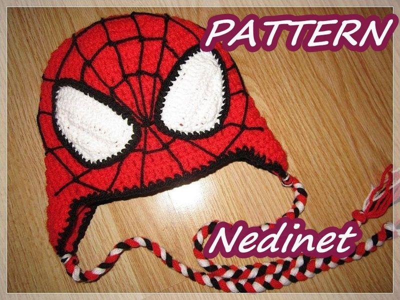 Spiderman crochet hat PATTERN PDF von NedinetCreations auf DaWanda ...