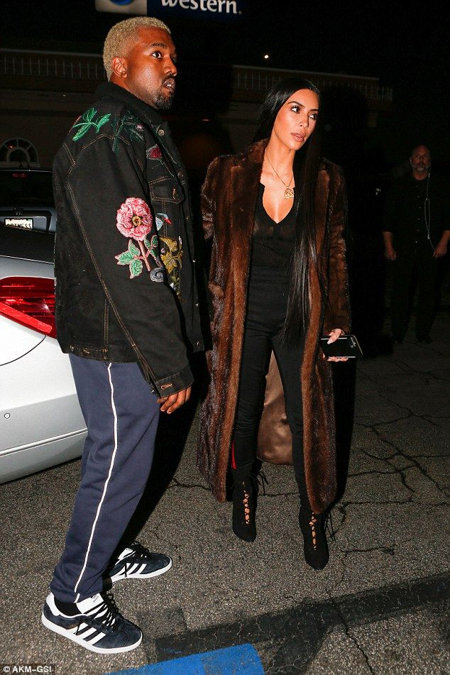 134afdf712d3 The 36-year-old Keeping Up With The Kardashians star wore a brown fur coat  with sheer plunging top that showcased her ample bosom