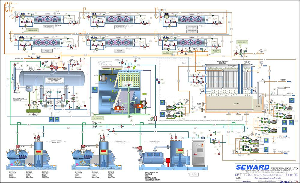 Refrigerator Compressor Wiring Diagram Ps2 Mouse To Usb Ammonia Refrigeration System - Google Search | Dwg Pinterest Refrigerator, Design And Industrial