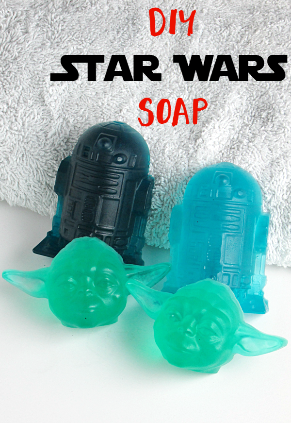 DIY Star Wars Soaps are easy to make! Perfect to celebrate Star Wars The Force Awakens release! Great for party favors and stocking stuffers!
