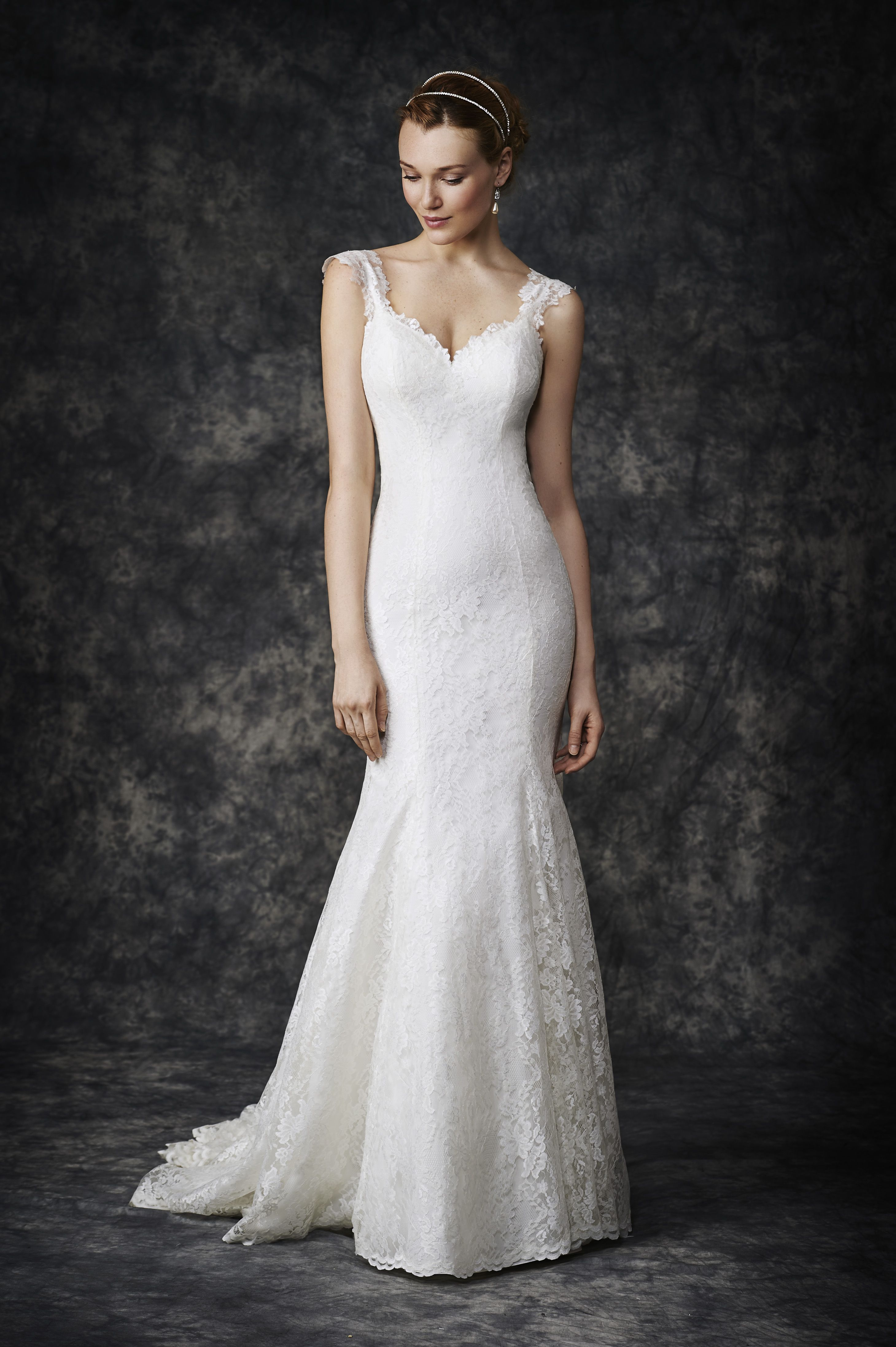 Wedding dresses for 2nd marriage  An understated lightweight lace wedding dress ideal for a second