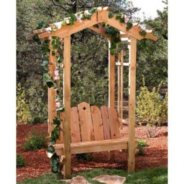 Pictures of arbors with plans an arbor for you for Japanese garden trellis designs