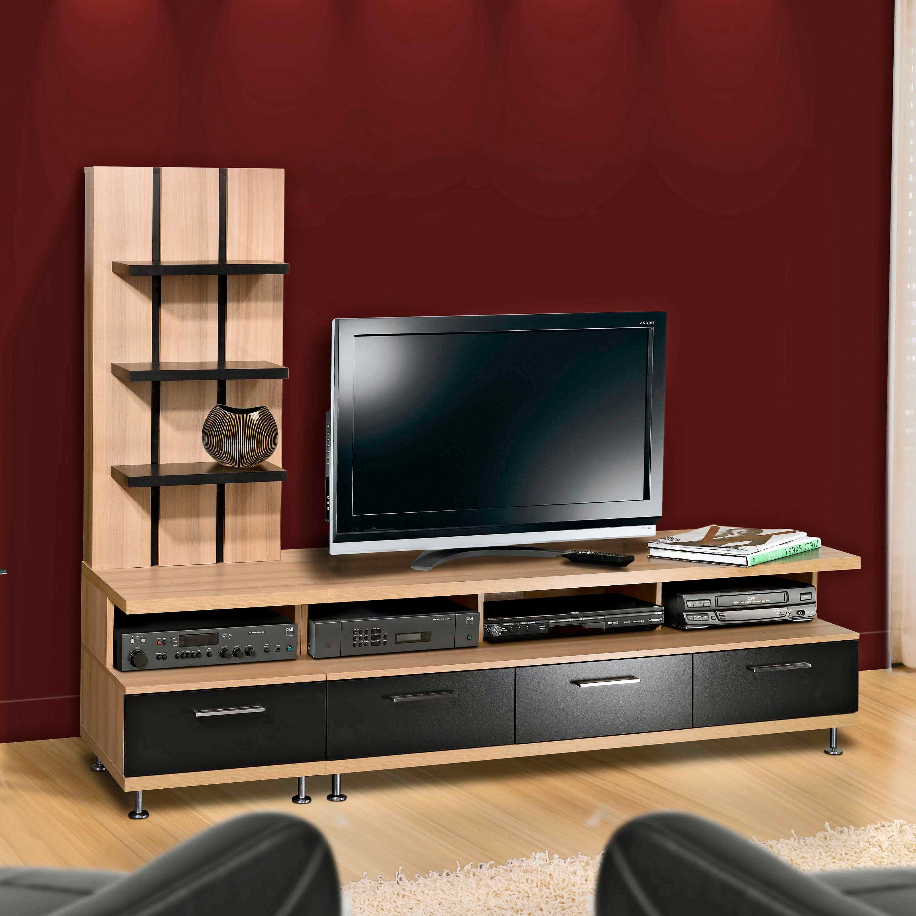 unique tv stands - have to have it nexera eclipse biscotti and black entertainment