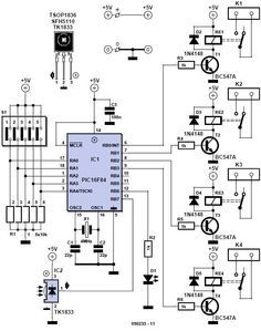 home remote control circuit diagram frank electronics components Yamaha Receiver Wiring Diagram