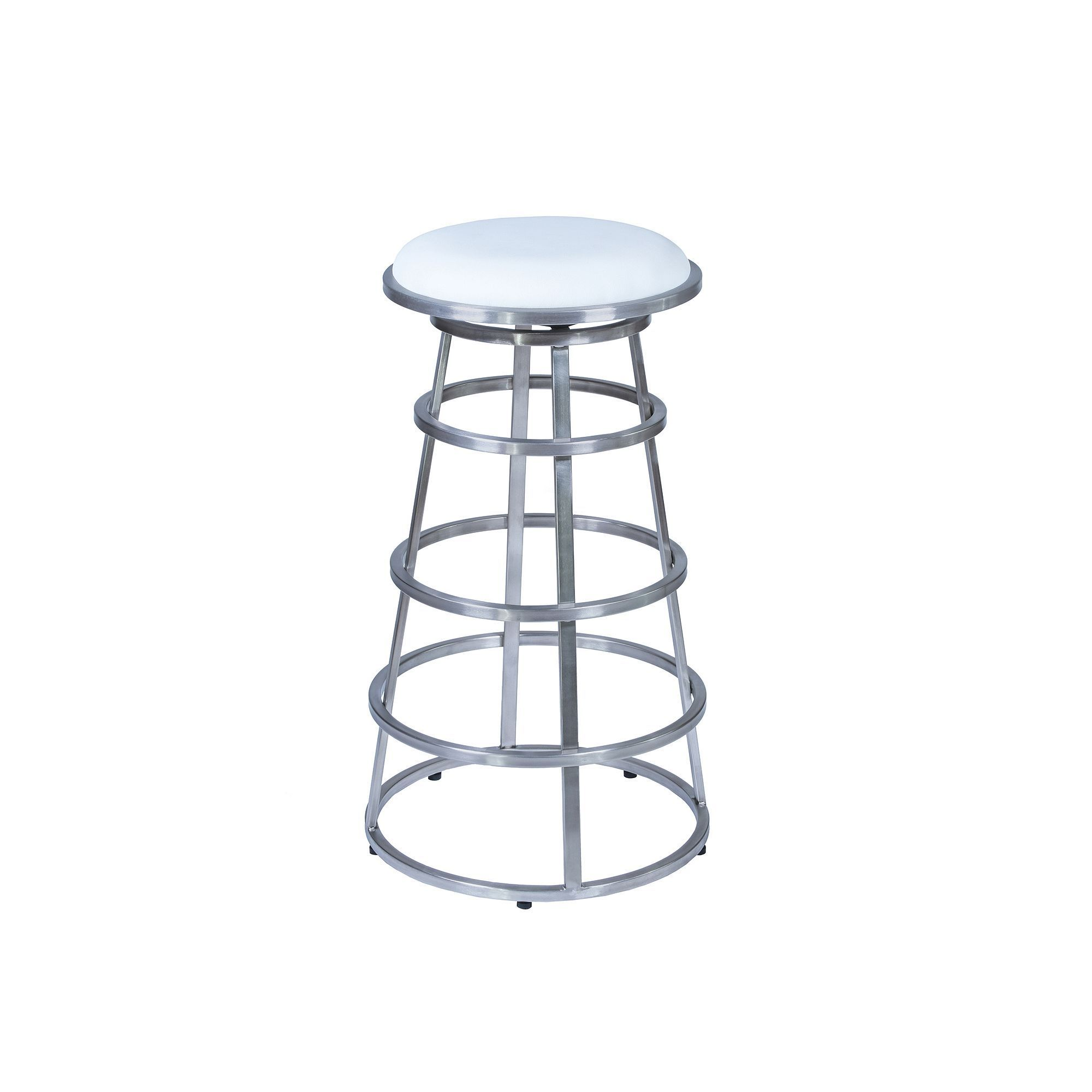 Armen Living Ringo Bar Stool, White