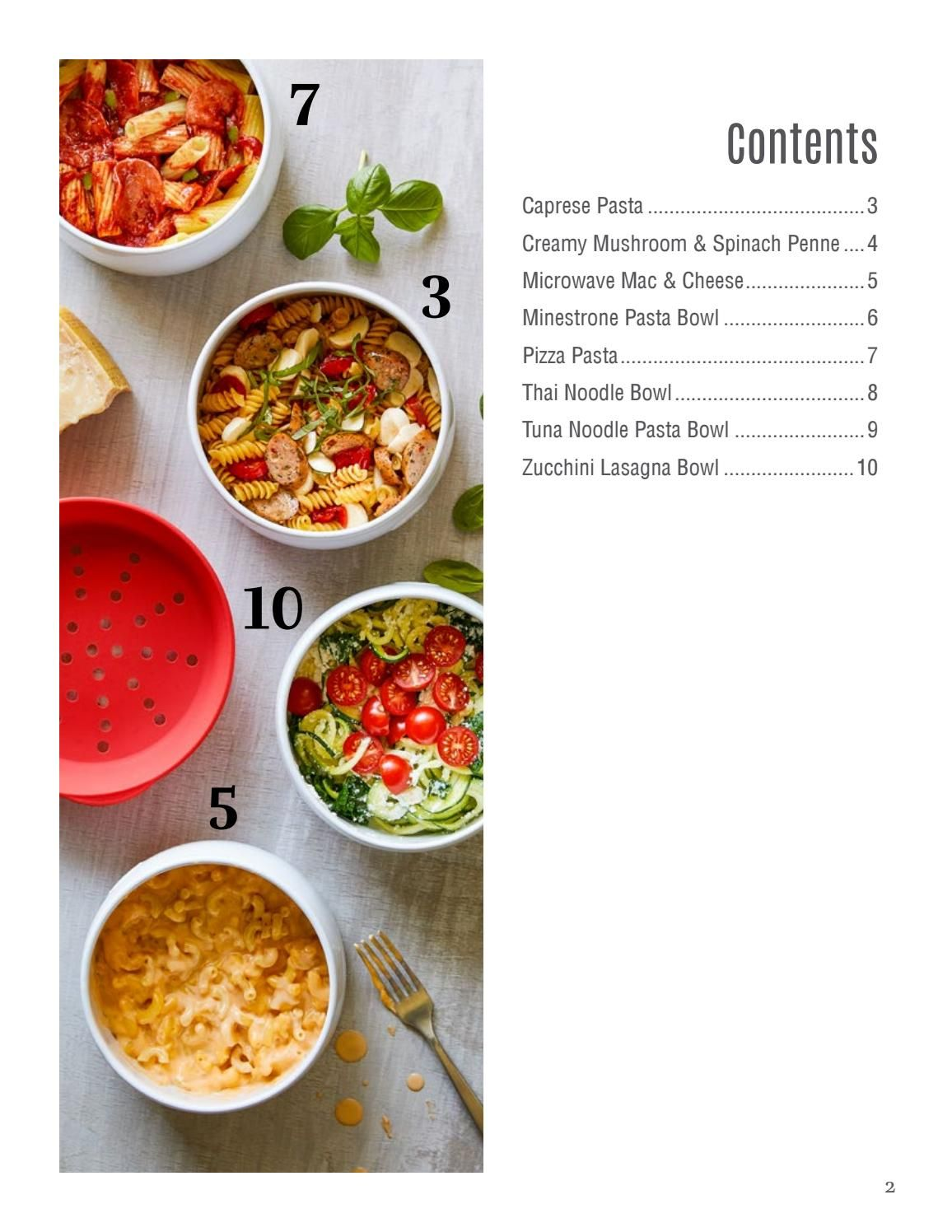microwave pasta cooker recipes ebook