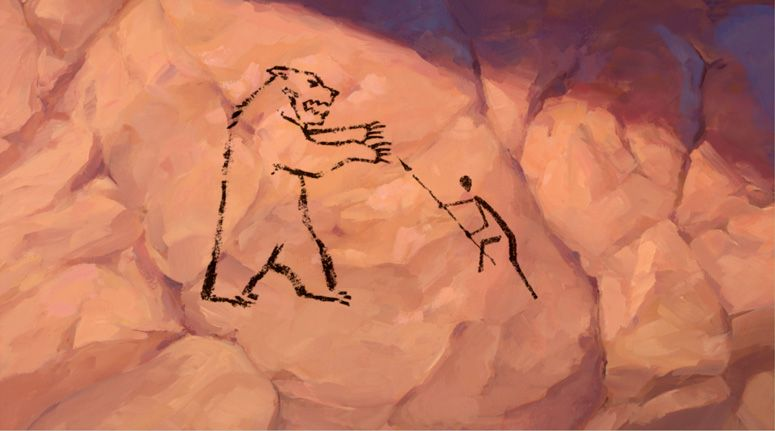 Bear Cave Drawing at GetDrawings | Free download |Lascaux Cave Paintings Bear