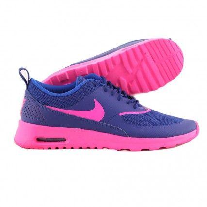 le dernier 74b65 aaf5b Basket Nike - Air max Thea 599409405 - Bleu et rose | B ...