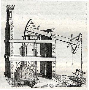 La máquina de Newcomen, o máquina de vapor atmosférica, fue inventada en 1712 por Thomas Newcomen, asesorado por Robert Hooke, que era físico, y por el mecánico John Calley. Esta máquina supuso una mejora frente a la máquina de Thomas Savery.
