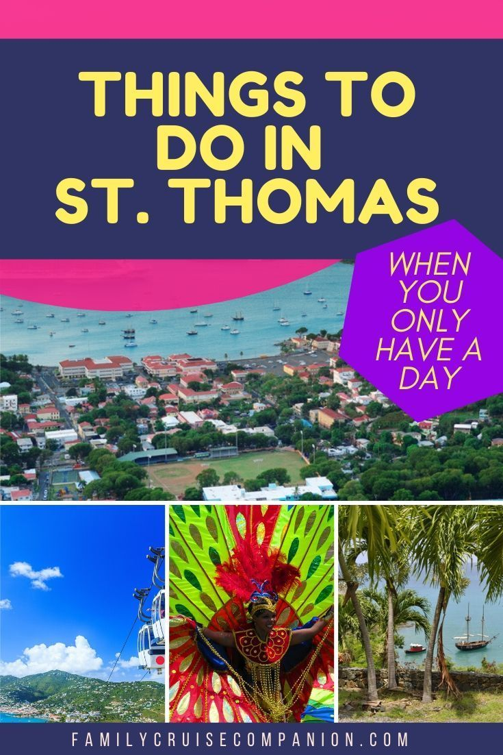 Find out what fun things you can do when your cruise stops in St. Thomas. Discover the best excursions and activities for families. And, get key tips on navigating the port and the island. Plus, great local events to check out for 2020! #familycruise #caribbean #cruisetips