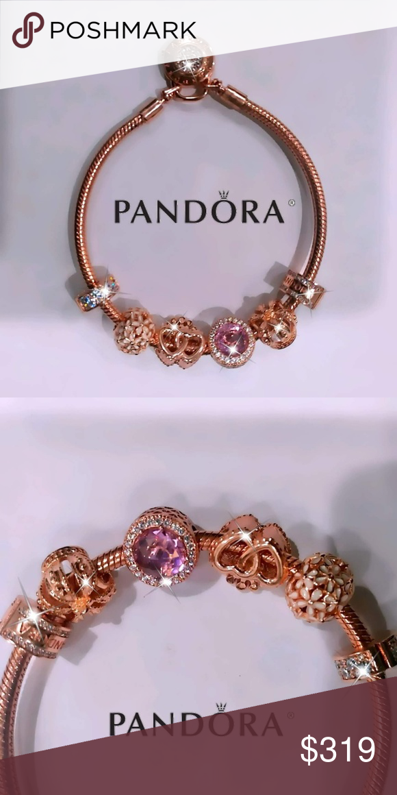 I just added this listing on Poshmark: Pandora rose gold charms + ...