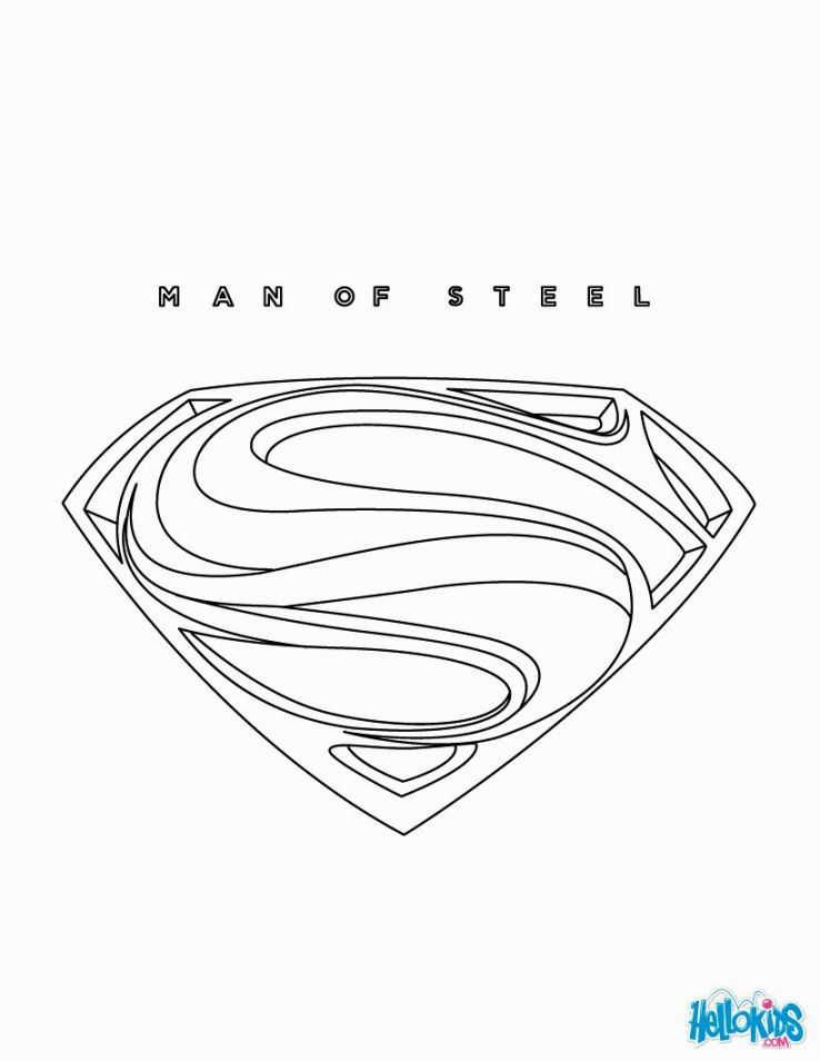 Man Of Steel Coloring Pages Superman Coloring Pages Online