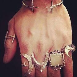 bohemian rings   jewelry   Pinterest on We Heart It.