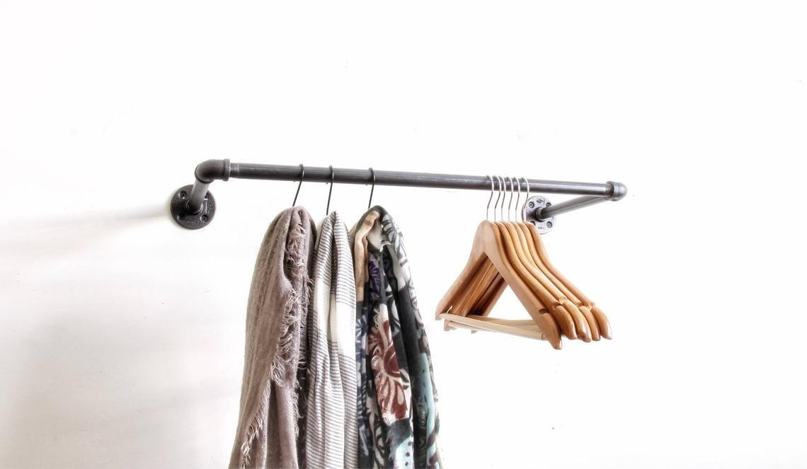 Industrial Clothing Rack Garment Rack Retail Display Rack Etsy Industrial Clothing Rack Industrial Clothing Garment Racks