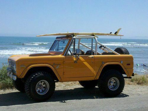 The first car my parents bought me….1973 Ford Bronco….just like this one.  I…