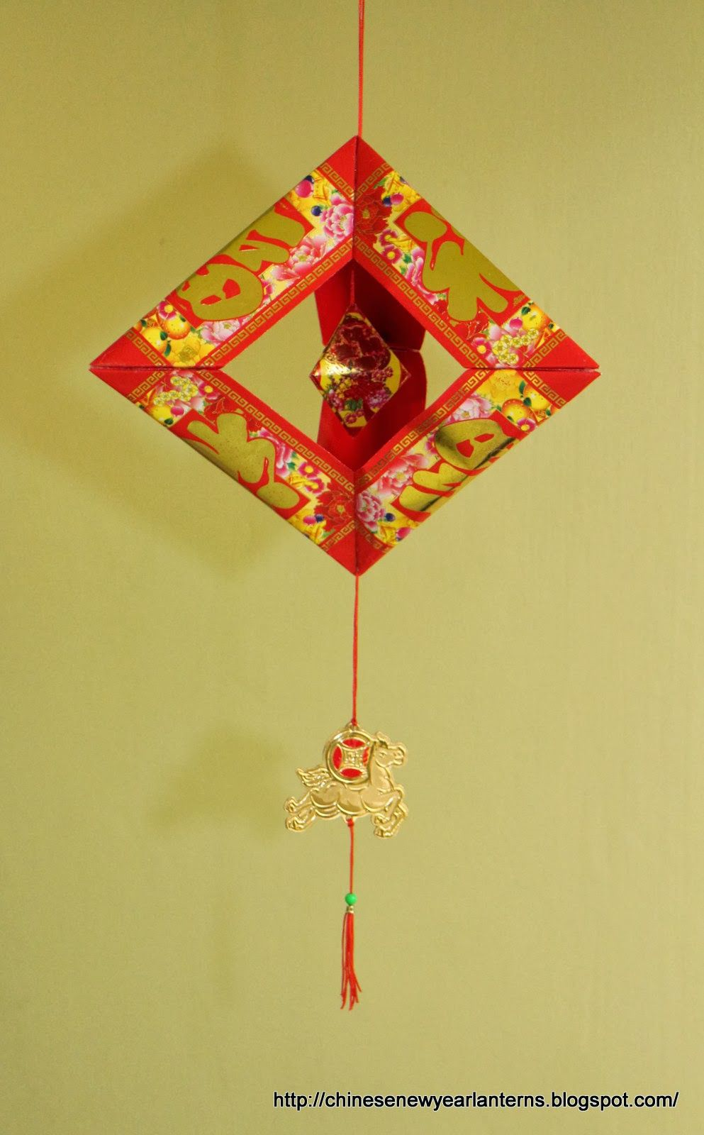 Chinese New Year Lanterns 红包灯笼手工制作: How to make a ...