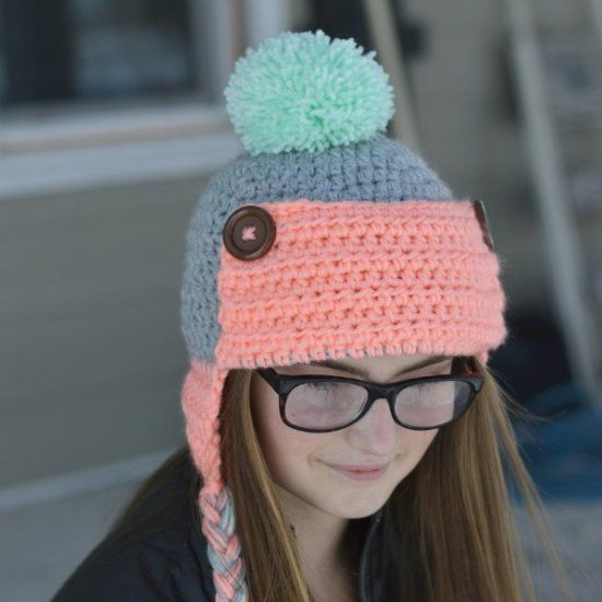 Make this cute and cozy Trapper Hat with this free crochet pattern ...