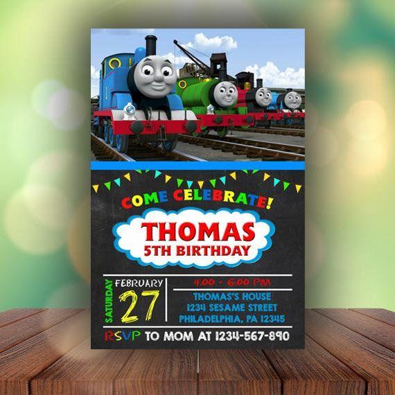 Thomas The Train Birthday Invitations Thomas The Train Invitation