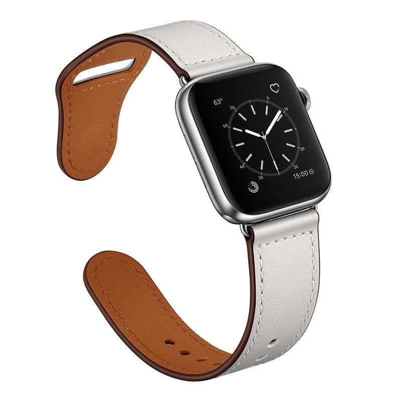 Photo of Echtlederarmband für Apple Watch – s weiß / 38mm oder 40mm