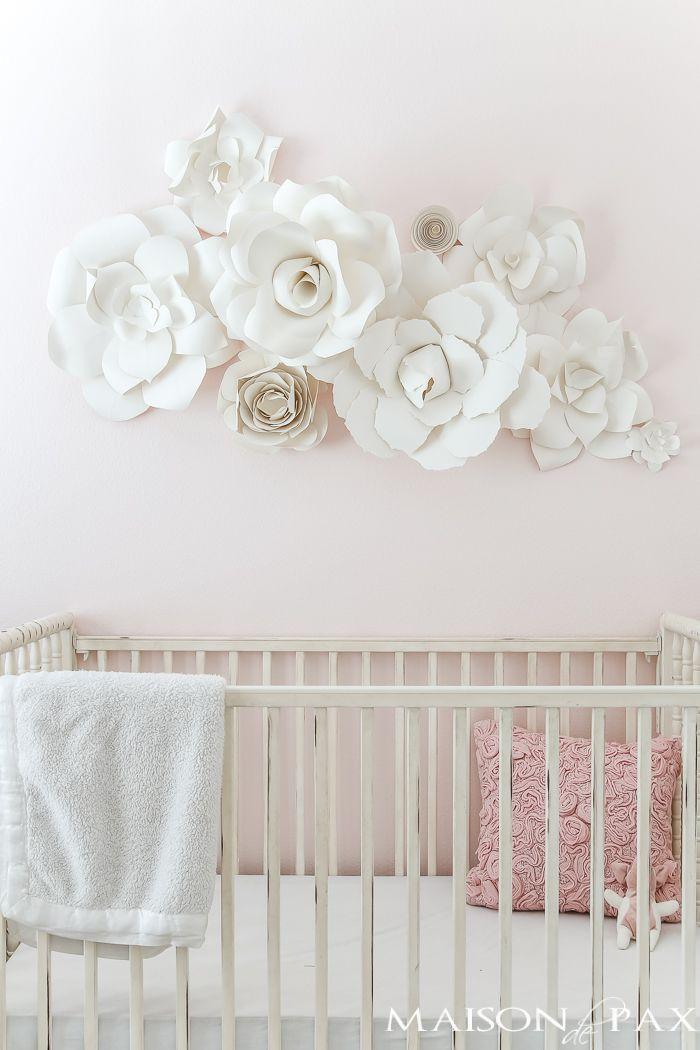 Paper Flower Wall Art In The Nursery Maison De Pax Paper