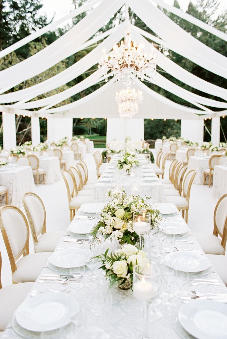 Modern wine country wedding at meadowood from a savvy for All white wedding theme pictures