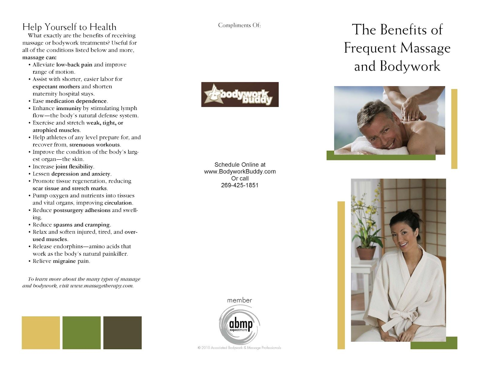 Create Free Massage Brochures With ABMP | Marketing Massage and ...